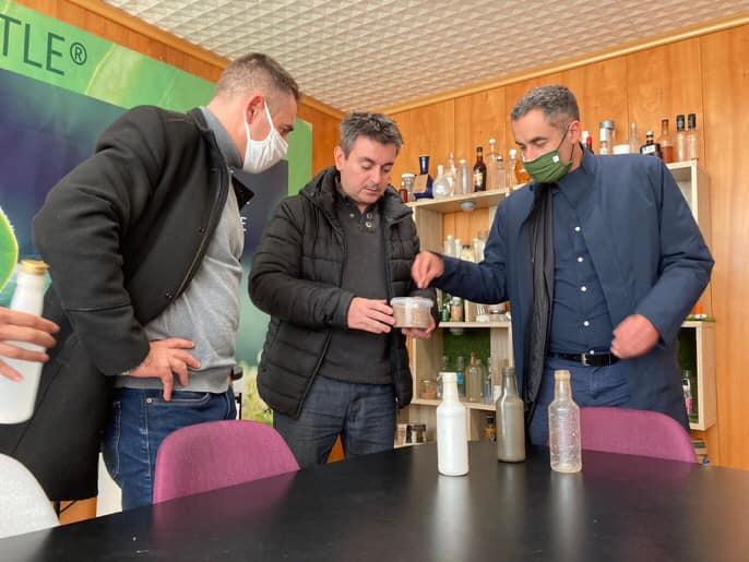 Découverte de l'usine de Lyspackaging veganbottle à Chaniers